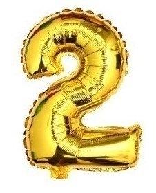 100 cm grote XL folie ballon van hoge kwaliteit nummer 2 goud