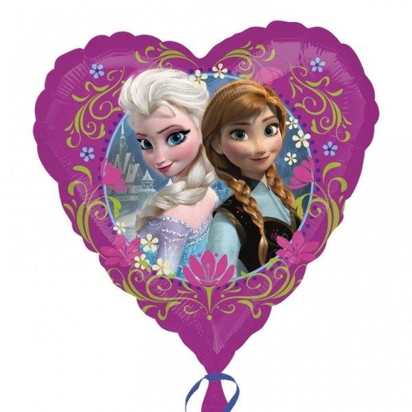 Frozen Folie ballon hartvorm. 43 cm
