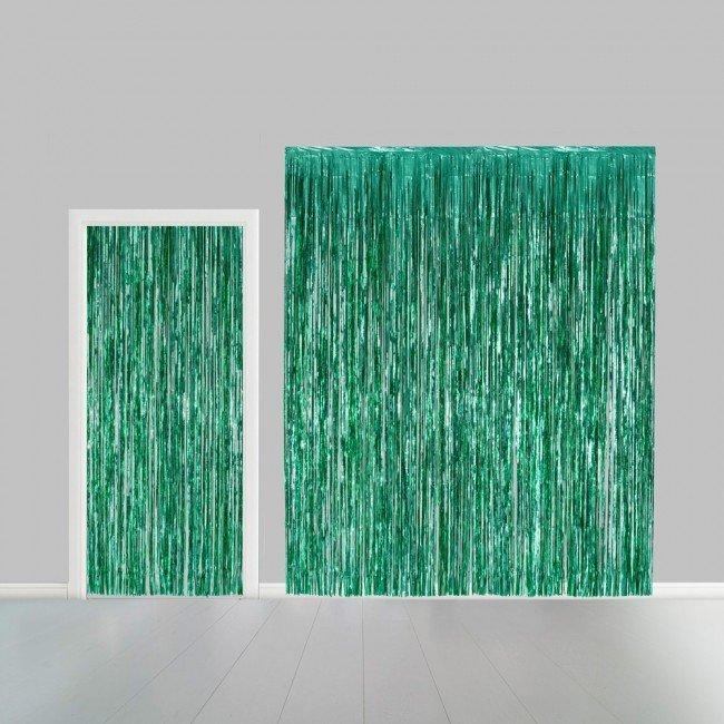 Partygordijn groen. 100cm x 240 cm. Vlamvertragend