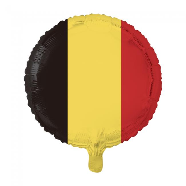 Folie ballon rond met Belgische vlag