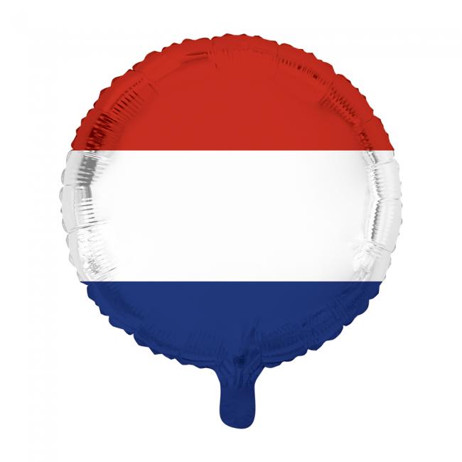 Folieballon rond met Nederlandse vlag