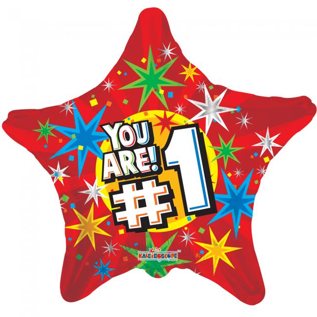 Folieballon stervormig You are #1, 46 cm