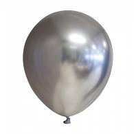 10 stuks ZILVER decoratieve chroom / spiegel ballonnen 30 cm.