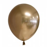 GOUD decoratieve chroom / spiegel ballonnen 30 cm.