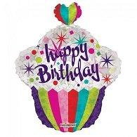 Folie ballon cupcake 55 cm groot