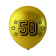 6 stuks latex ballonnen met 50  31 cm metallic goud