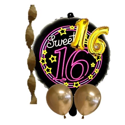 Versierpakket Sweet Sixteen 16 met ballonnen