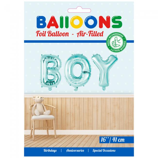 Folie ballon baby boy in letters