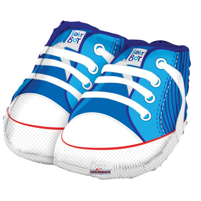 Folie ballon blauwe schoentjes boy