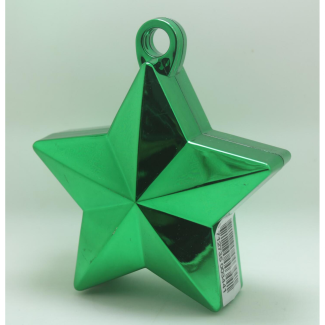 Ballon gewicht in de vorm van een ster metallic green