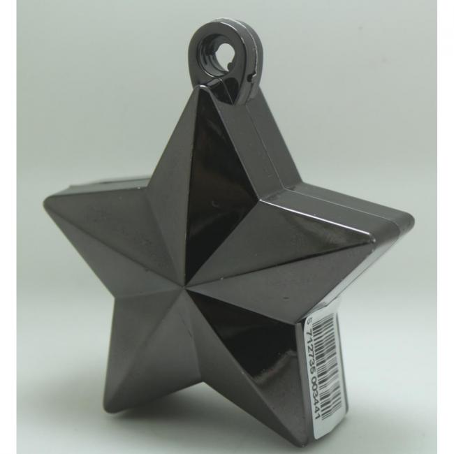 Ballon gewicht in de vorm van een ster metallic black