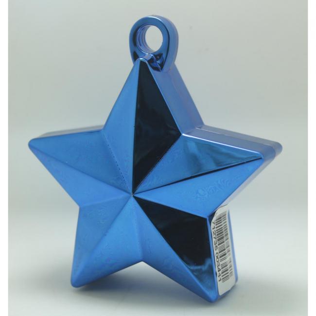 Ballon gewicht in de vorm van een ster metallic blue