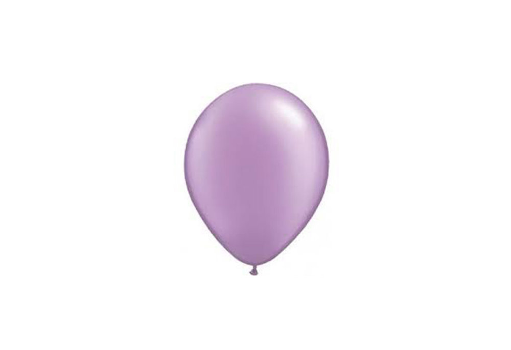 10 stuks - Lilla parelmoer metallic ballon 30 cm hoge kwaliteit