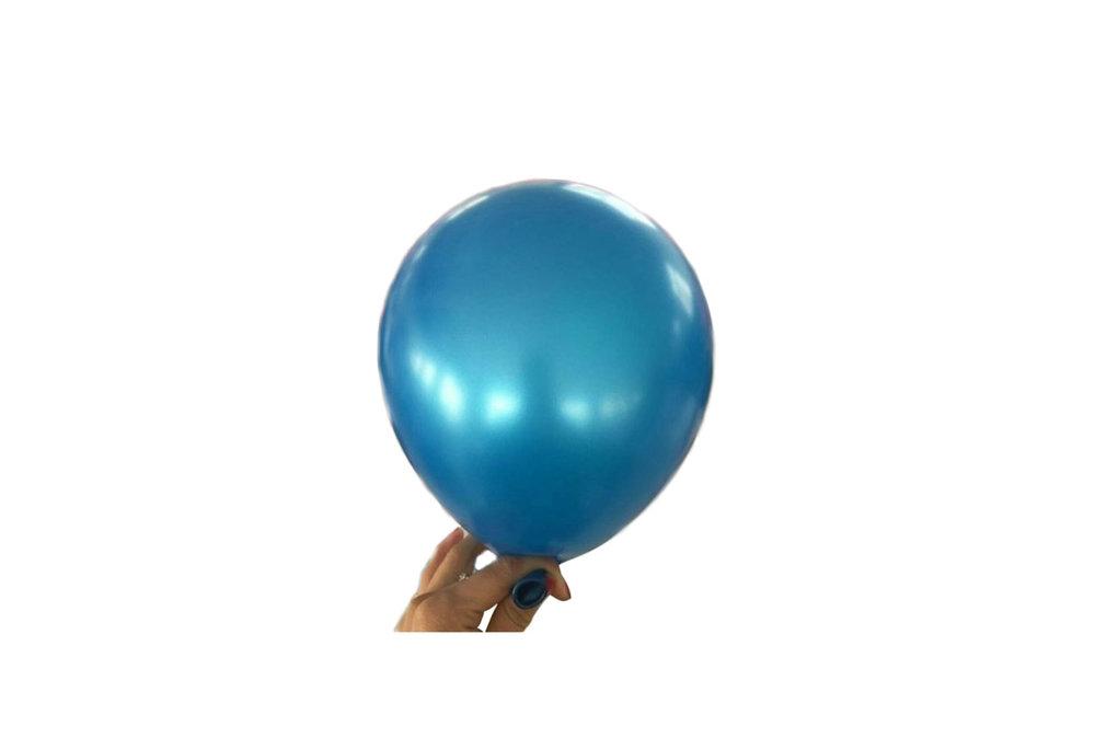 10 stuks - Donker blauwe parelmoer metallic ballon 30 cm hoge kwaliteit