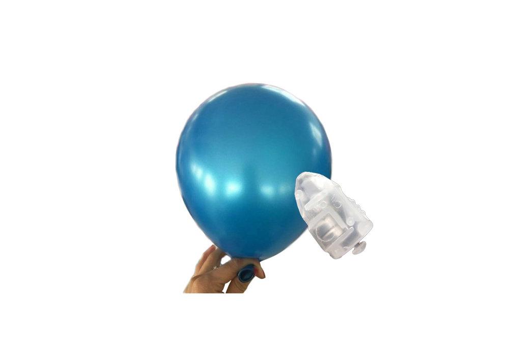 5 stuks ledverlichte Donker blauwe parelmoer metallic ballonnen 30 cm met losse LED-lampjes