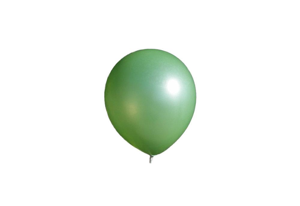 10 stuks - Donker groene parelmoer metallic ballon 30 cm hoge kwaliteit