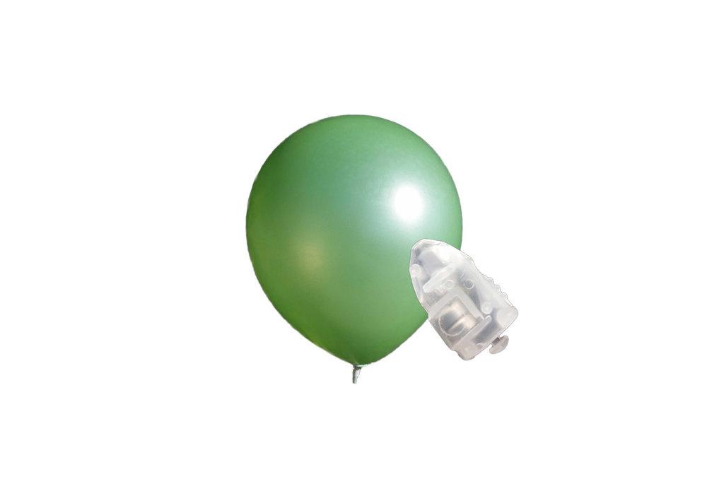 5 stuks ledverlichte Donker groene parelmoer metallic ballonnen 30 cm met losse LED-lampjes