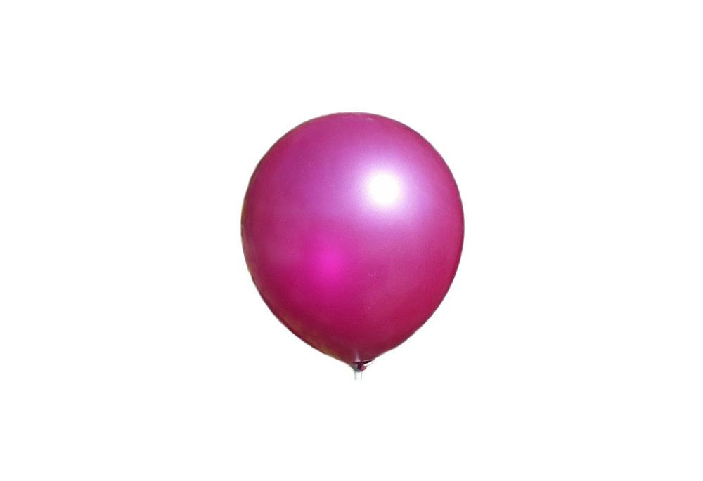 10 stuks - Donker roze parelmoer metallic ballon 30 cm hoge kwaliteit