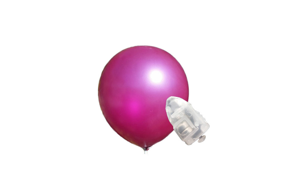 5 stuks ledverlichte Donker roze parelmoer metallic ballonnen 30 cm met losse LED-lampjes
