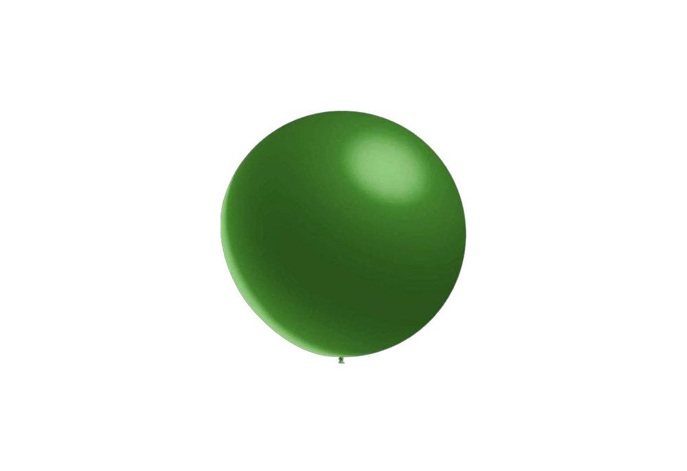 10 stuks - Metallic decoratieballonnen donker groen 28 cm professionele kwaliteit