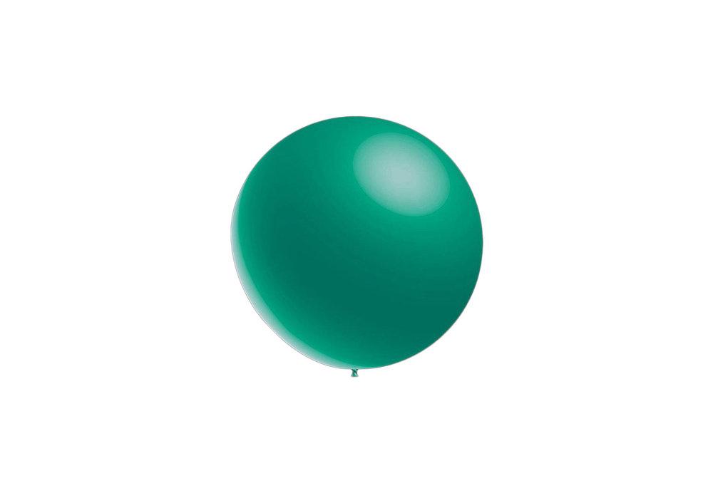 10 stuks - Metallic decoratieballonnen turquoise 28 cm professionele kwaliteit