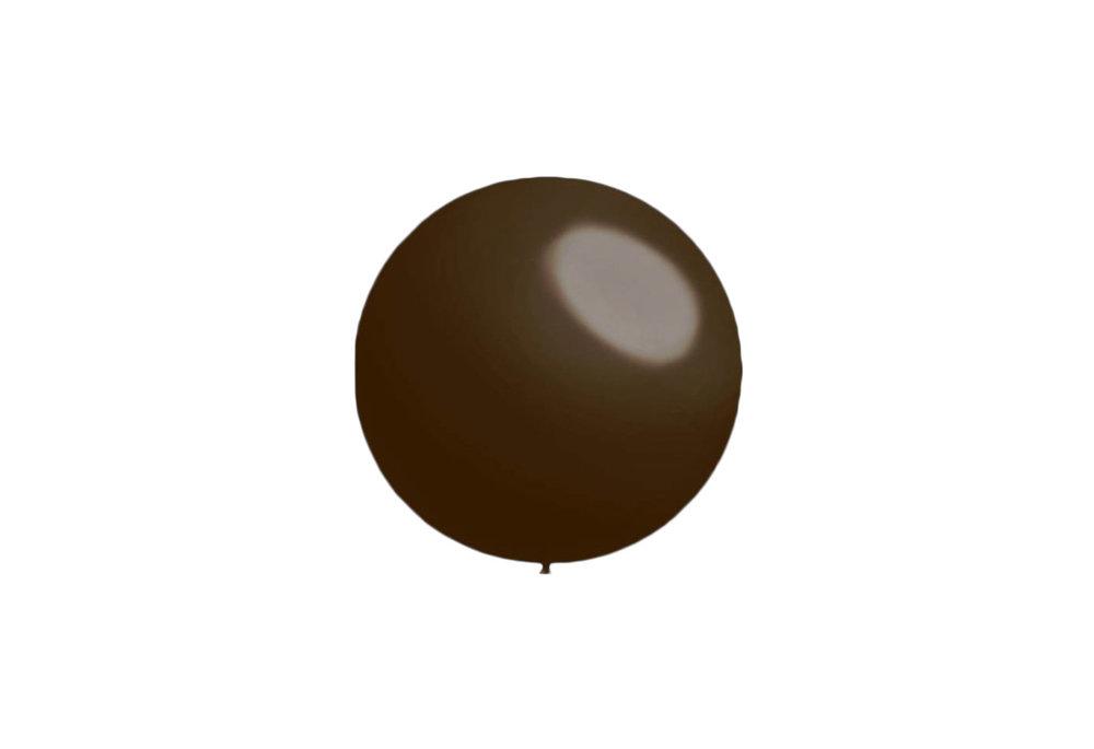 100 stuks - Decoratieballonnen donker bruin 28 cm pastel professionele kwaliteit