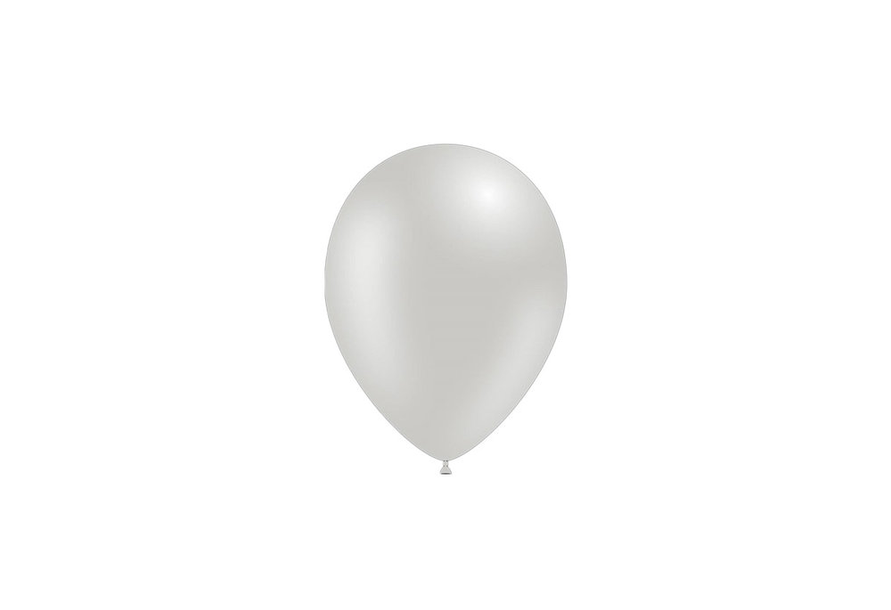 100 stuks - Metallic decoratieballonnen zilver 28 cm professionele kwaliteit