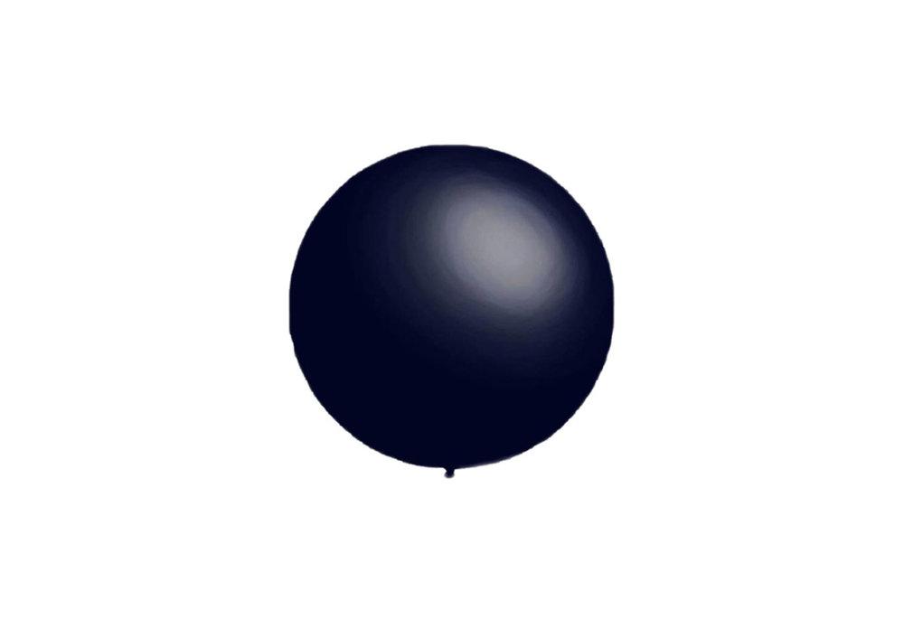 100 stuks - Decoratieballonnen donker blauw 28 cm pastel professionele kwaliteit