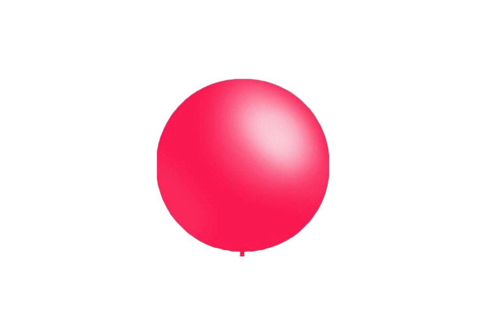 100 stuks - Decoratieballonnen fuchsia 28 cm pastel professionele kwaliteit