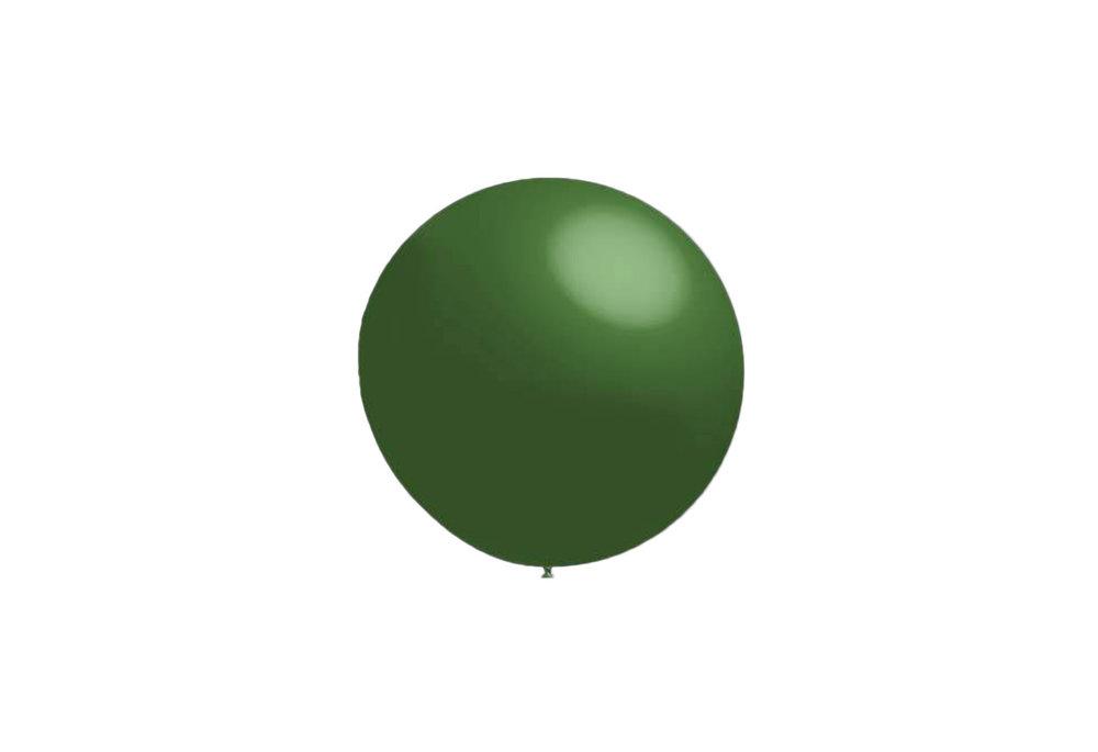 100 stuks - Decoratieballonnen donker groen 28 cm professionele kwaliteit