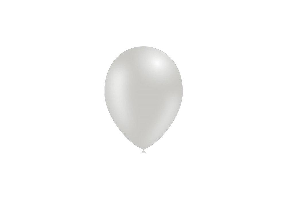 25 stuks - Metallic decoratieballonnen zilver 28 cm professionele kwaliteit