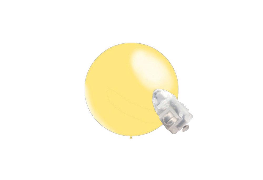 5 stuks ledverlichte Decoratieballonnen ivoor 28 cm met losse LED-lampjes