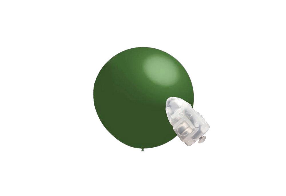 5 stuks ledverlichte Decoratieballonnen donker groen 28 cm met losse LED-lampjes