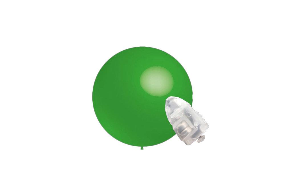 5 stuks ledverlichte Decoratieballonnen licht groen 28 cm met losse LED-lampjes