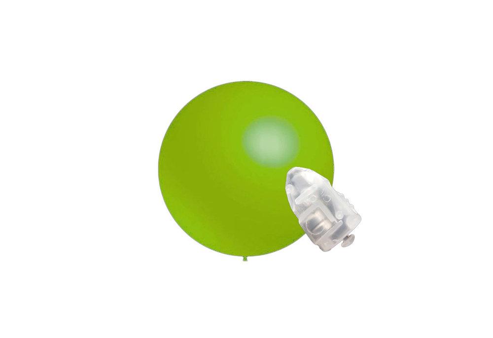 5 stuks ledverlichte Decoratieballonnen lime groen 28 cm met losse LED-lampjes