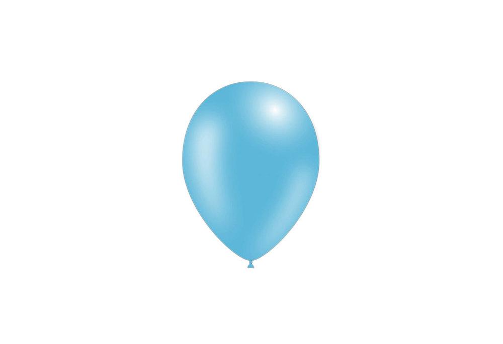 10 stuks - Feestballonnen metallic licht blauw 26 cm professionele kwaliteit