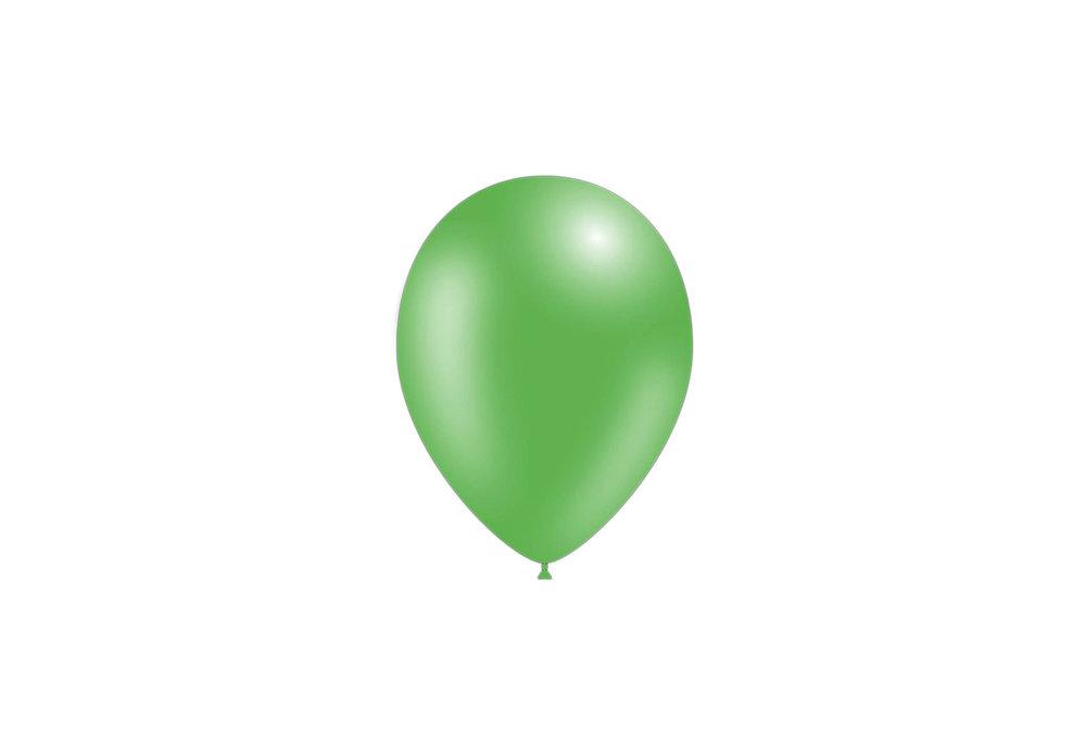 Feestballonnen metallic groen 26 cm professionele kwaliteit