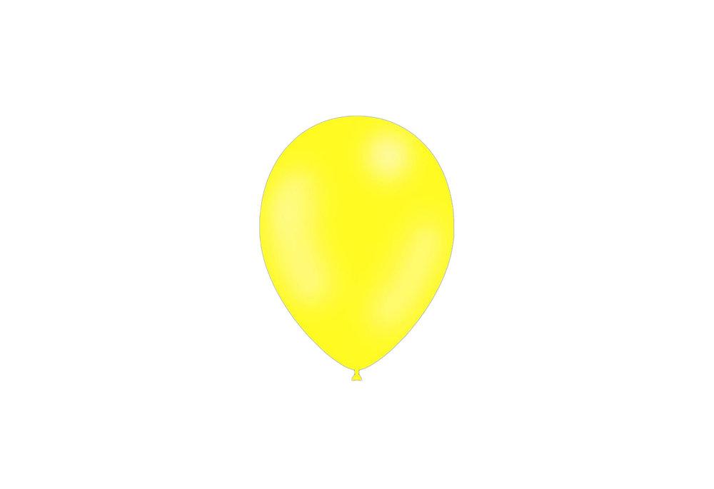 100 stuks - Feestballonnen citroen 26 cm pastel professionele kwaliteit
