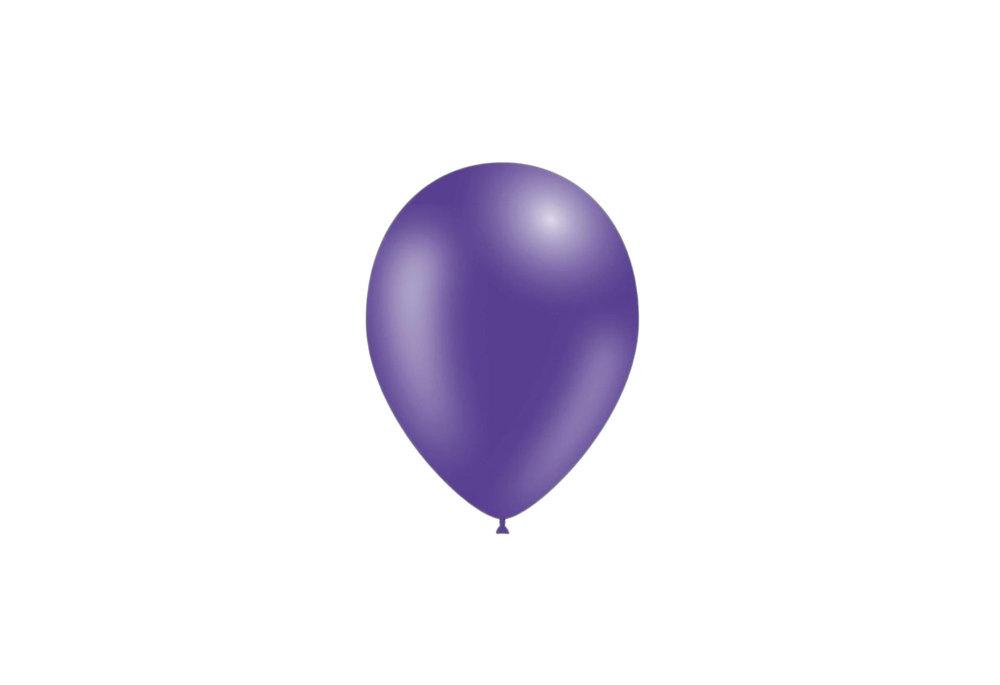 100 stuks - Feestballonnen paars 26 cm pastel professionele kwaliteit