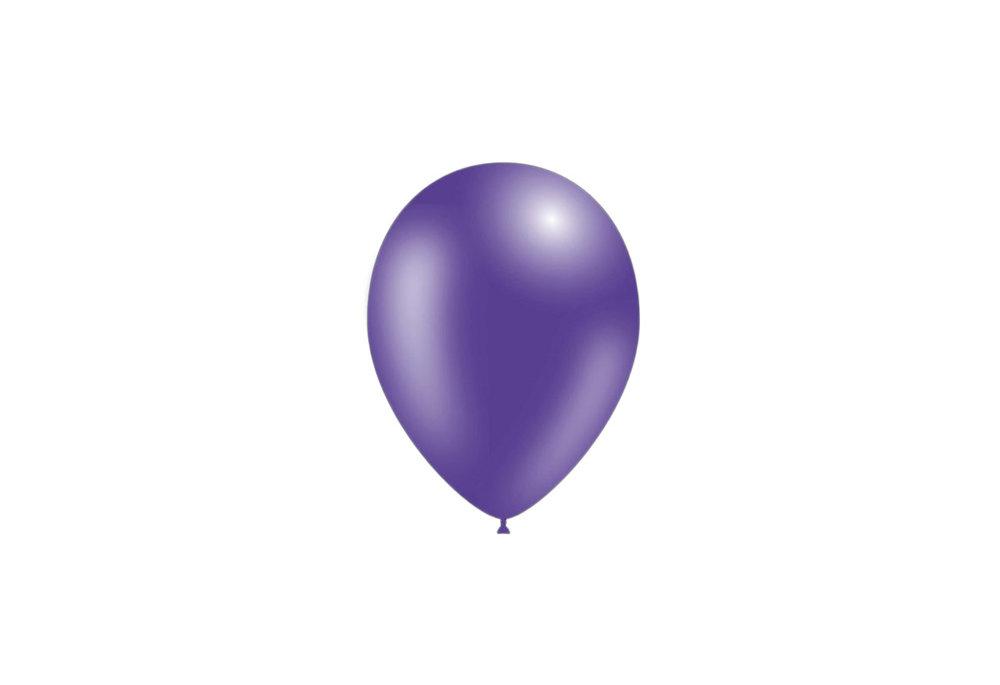 100 stuks - Feestballonnen metallic paars 26 cm professionele kwaliteit