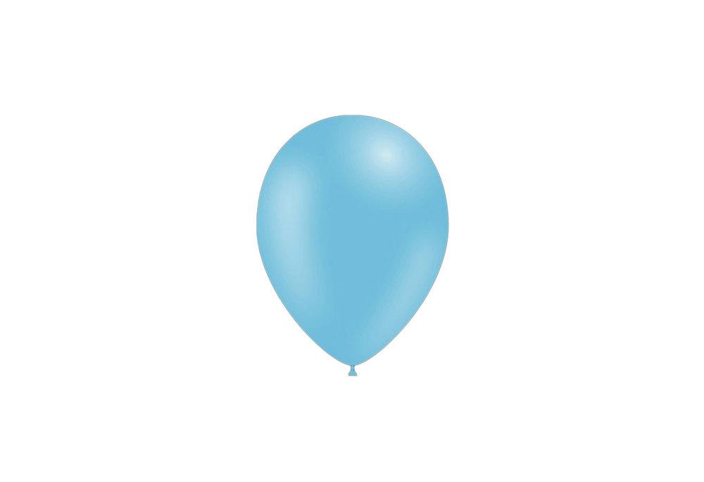 100 stuks - Feestballonnen licht blauw 26 cm pastel professionele kwaliteit