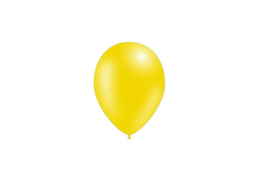 100 stuks - Feestballonnen metallic geel 26 cm professionele kwaliteit