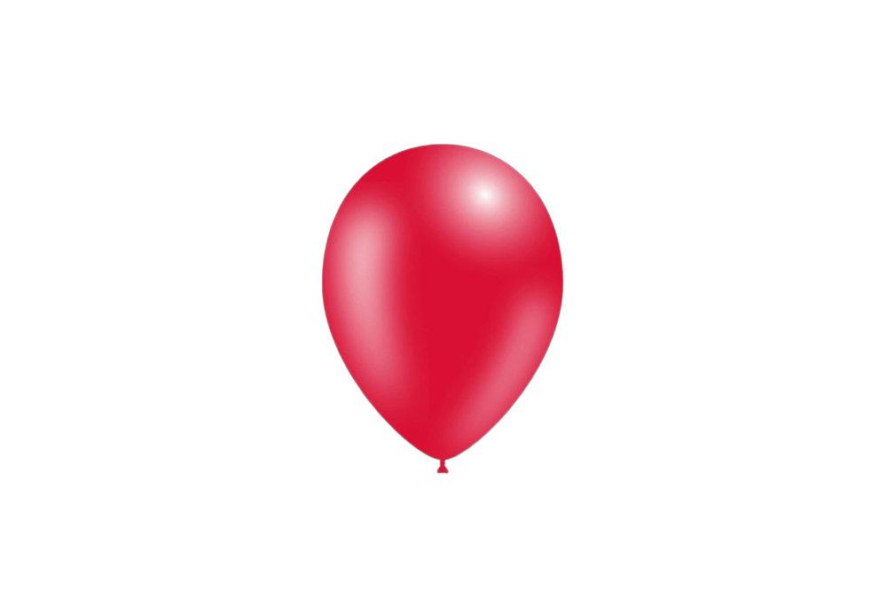 100 stuks - Feestballonnen metallic rood 26 cm professionele kwaliteit