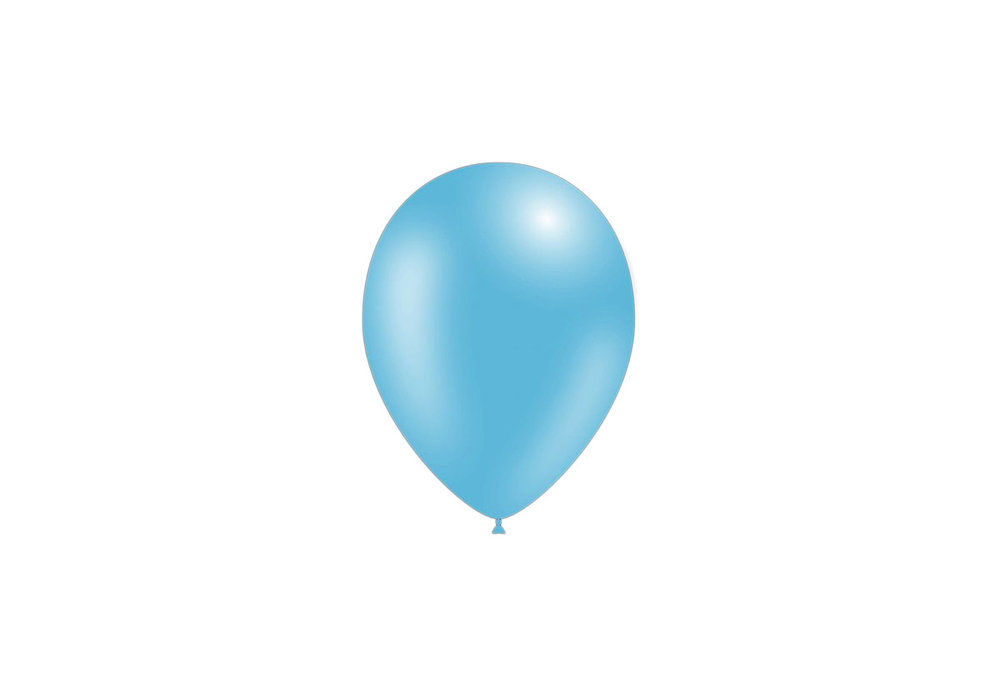 100 stuks - Feestballonnen metallic licht blauw 26 cm professionele kwaliteit