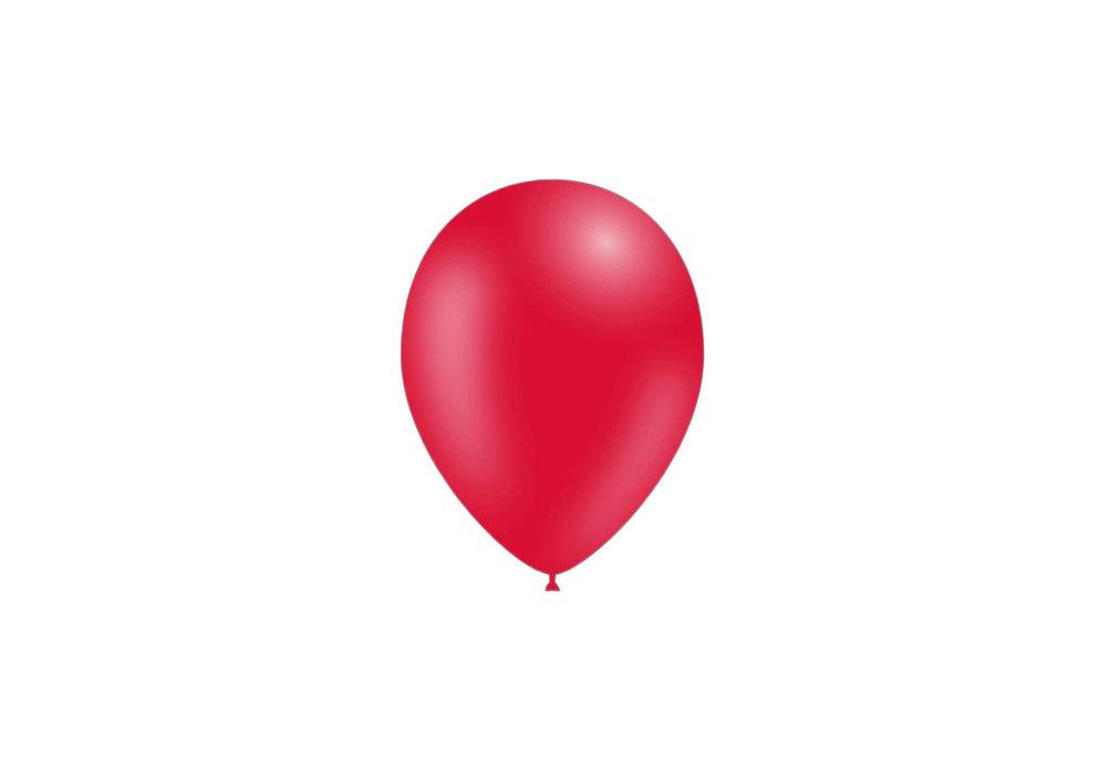 50 stuks - Feestballonnen rood 26 cm pastel professionele kwaliteit