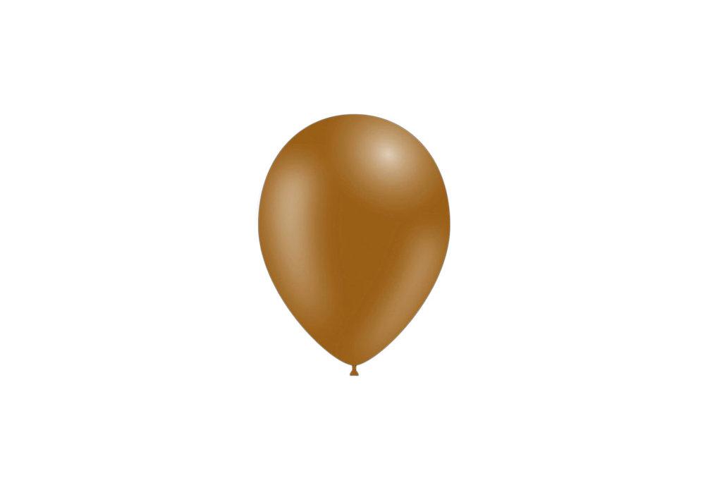 50 stuks - Feestballonnen bruin 26 cm pastel professionele kwaliteit