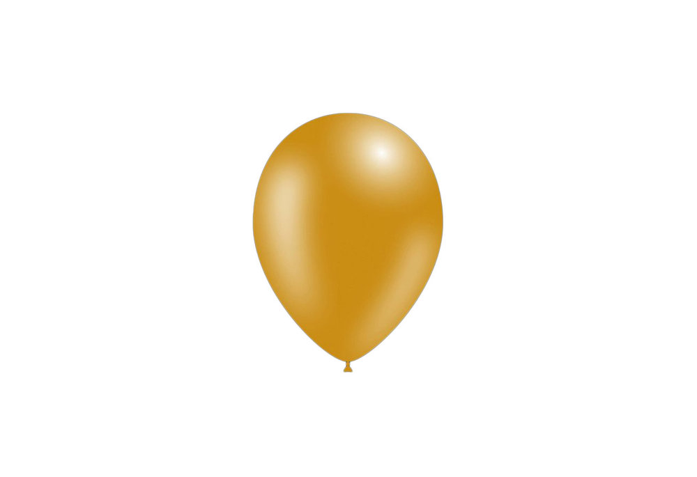 50 stuks - Feestballonnen metallic goud 26 cm professionele kwaliteit