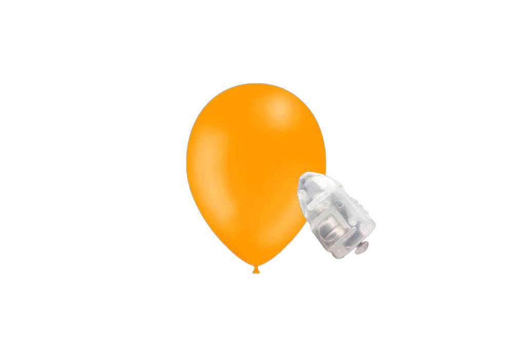 5 stuks ledverlichte Feestballonnen geel 26 cm pastel met losse LED-lampjes