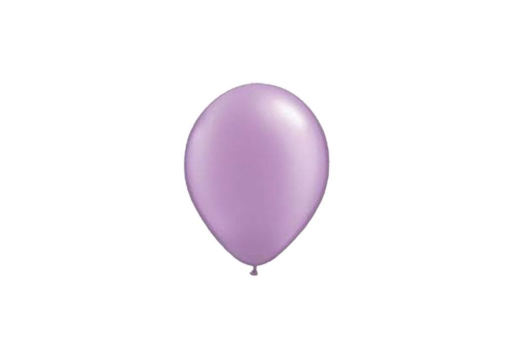Lilla parelmoer metallic ballon 30 cm hoge kwaliteit