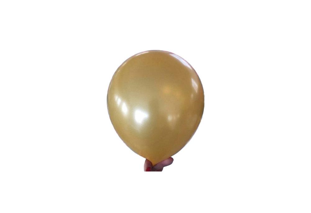 10 stuks - Gouden parelmoer metallic ballon 30 cm hoge kwaliteit